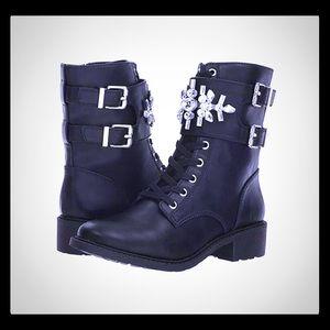 Combat black embellished Boots by Sam Edelman 7.5